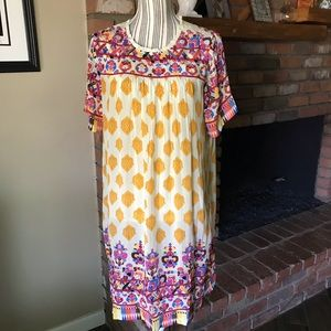 Anthropologie Tanvi Kedia Caltha Swing Dress Sz M